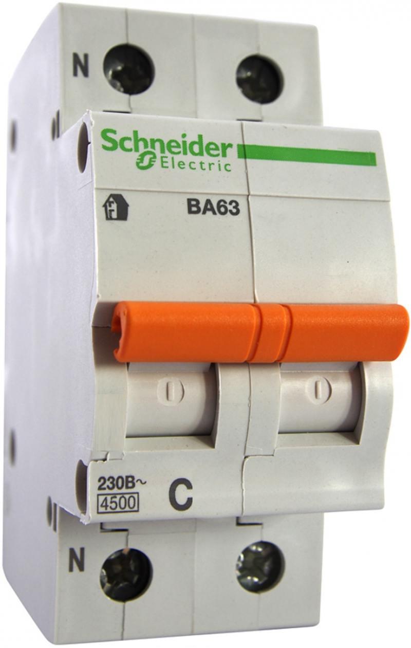 Автоматический выключатель Schneider Electric ВА63 1П+Н 32A C 11216
