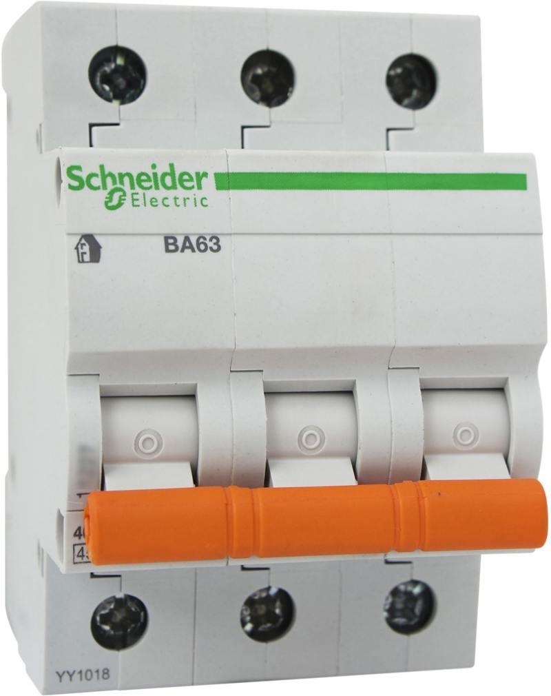 Автоматический выключатель Schneider Electric ВА63 3П 20A C 11224 автоматический выключатель schneider electric ва63 3п 20a c 11224
