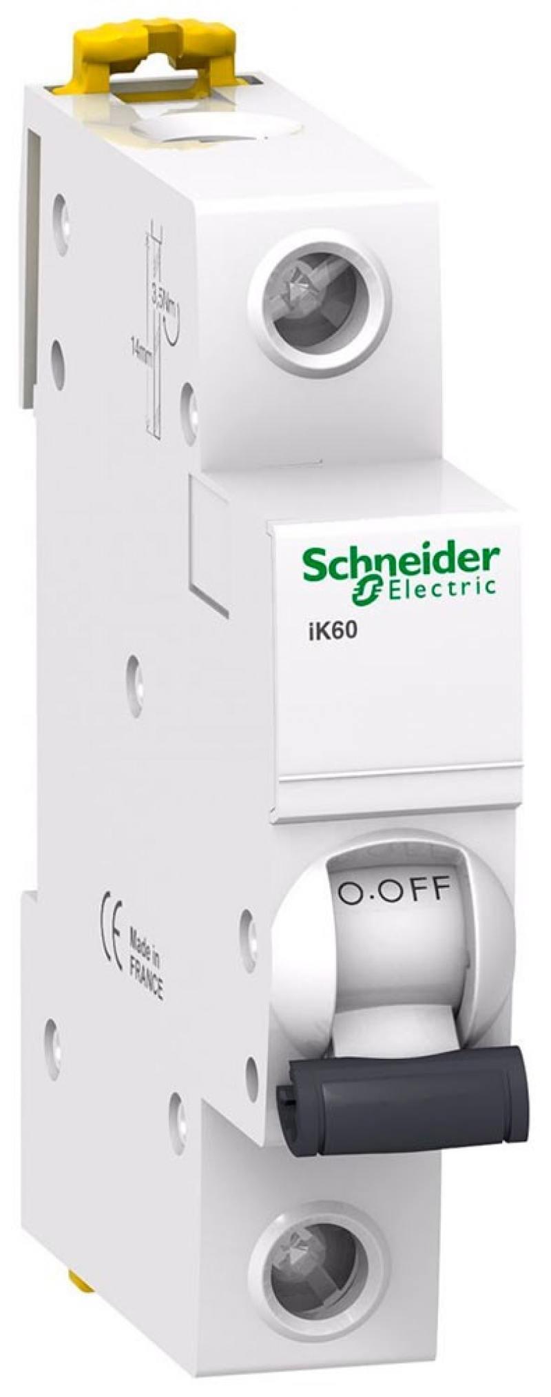 Автоматический выключатель Schneider Electric iK60 1П 6A C A9K24106 автоматический выключатель schneider electric ik60 1п 16a c a9k24116