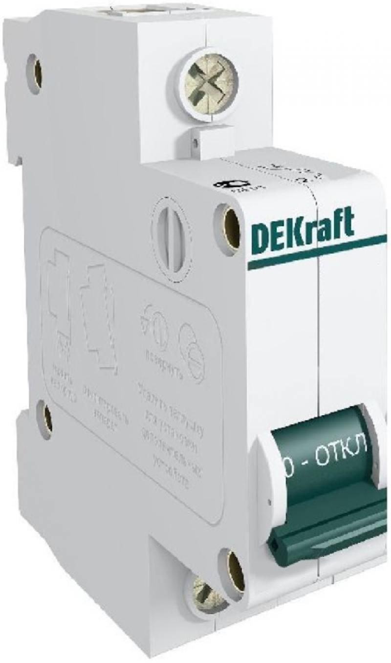 Автоматический выключатель DEKraft ВА-101 1П 6А C 4.5кА 11052DEK разрядник dekraft 18021dek