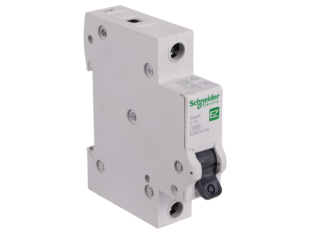 Автоматический выключатель Schneider Electric EASY 9 1П 10A C EZ9F34110 автоматический выключатель schneider electric easy 9 1п 25a c ez9f34125