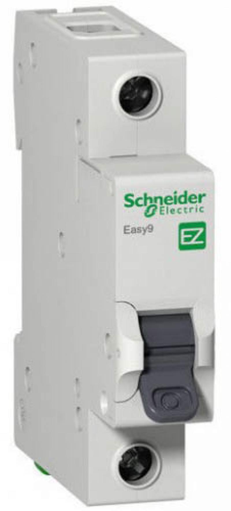 Автоматический выключатель Schneider Electric EASY 9 1П 63A C EZ9F34163 автоматический модульный выключатель easy 9 1п c 16а 4 5ка schneider electric ez9f34116