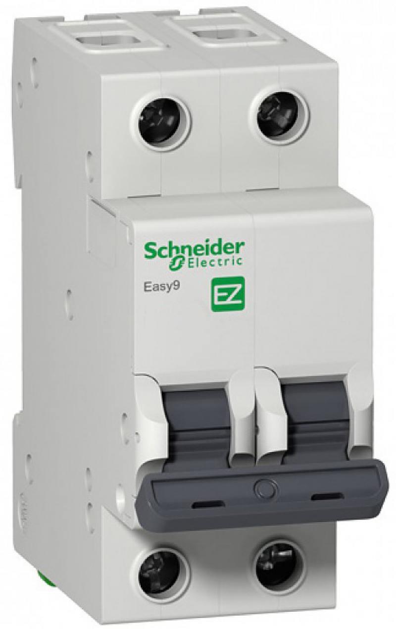 Автоматический выключатель Schneider Electric EASY 9 2П 20A C EZ9F34220 автоматический выключатель schneider electric easy 9 1п 63a c ez9f34163