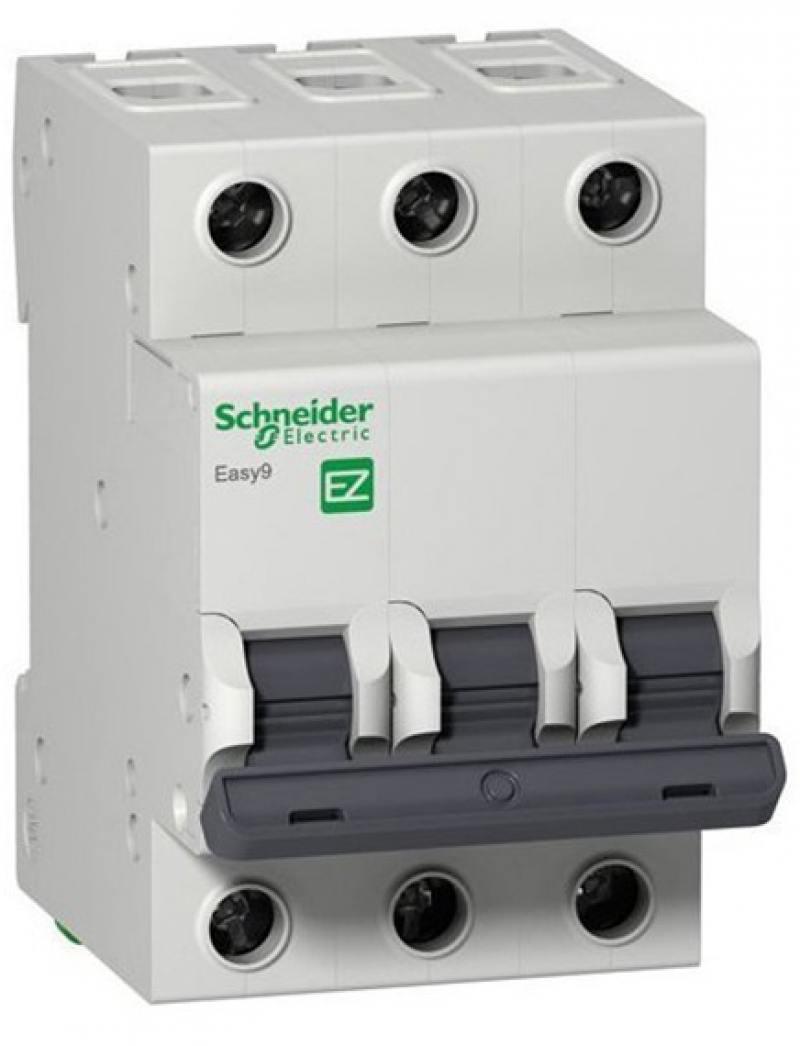 Автоматический выключатель Schneider Electric EASY 9 3П 25A C EZ9F34325 бокс schneider electric 348264 ez9e112s2sru оп easy 9 навесн с прозр дверью 1ряд 12мод