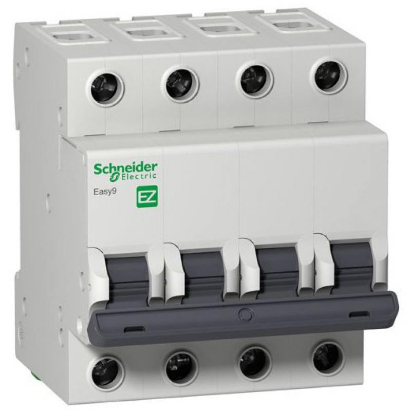 Автоматический выключатель Schneider Electric EASY 9 4П 32A C EZ9F34432