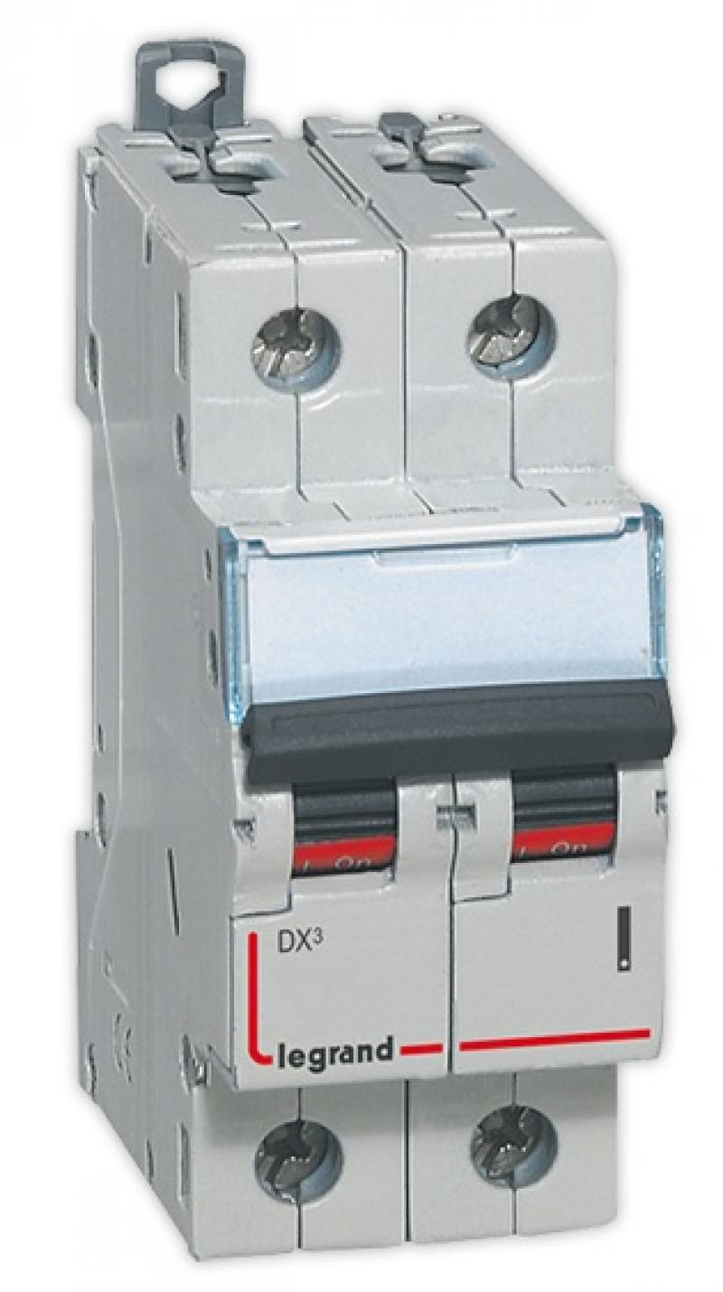 Автоматический выключатель Legrand DX3 6000 10кА тип C 2П 25А 407802