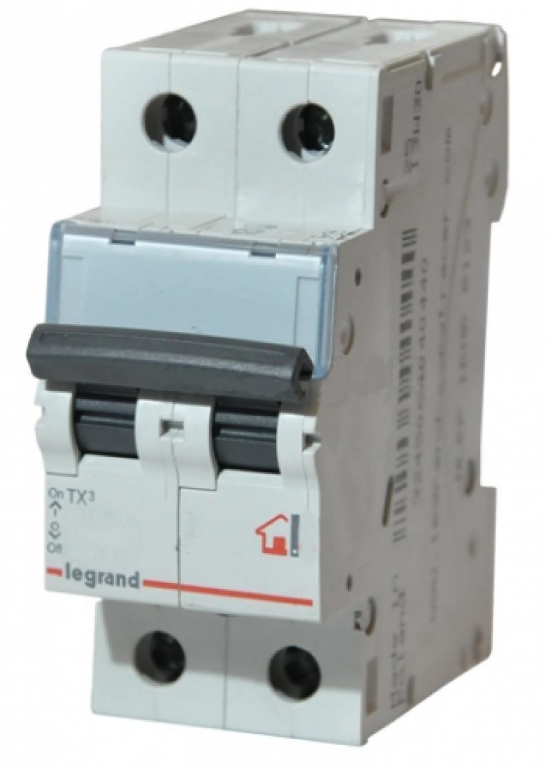Автоматический выключатель Legrand TX3 6000 тип C 2П 6А 404039