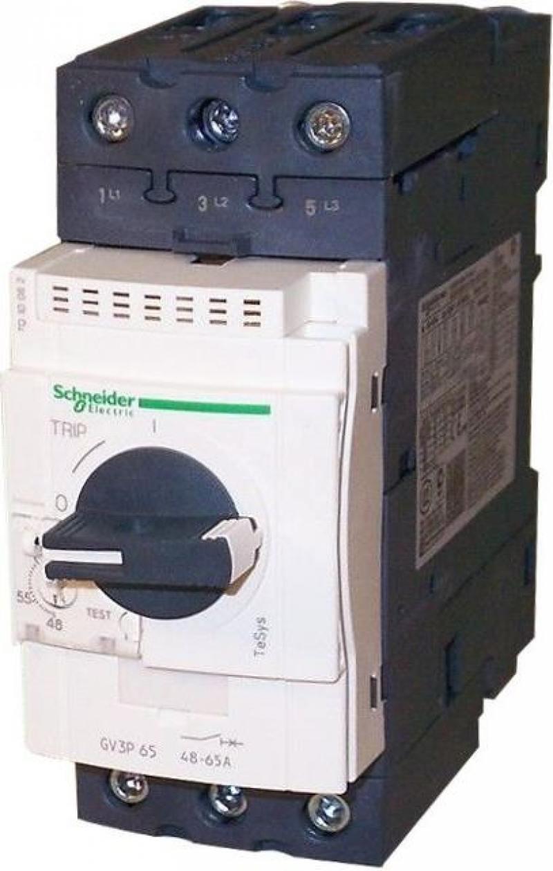 Автоматический выключатель Schneider Electric с регулируемой тепловой защитой 65А GV3P65