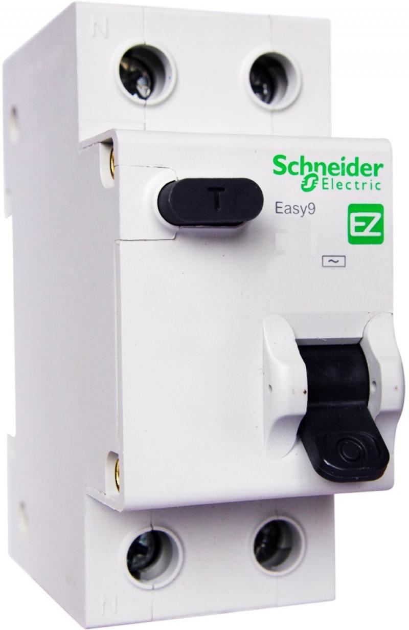 Выключатель дифференциального тока Schneider Electric EASY 9 1П+Н 20А 30мА C AC EZ9D34620 автоматический выключатель дифференциального тока tdm авдт 63 2p c 20а 30ма sq0202 0003