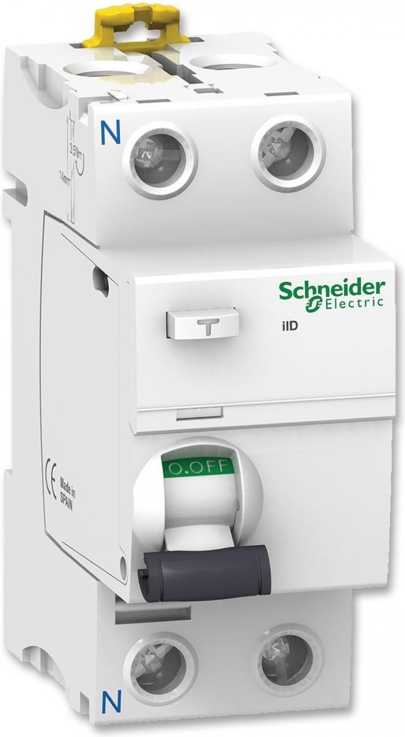 Выключатель дифференциального тока Schneider Electric iID 2П 40A 30мА AC A9R41240 new original mr j3 40a 1 3ph ac220v 400w ac servo drive