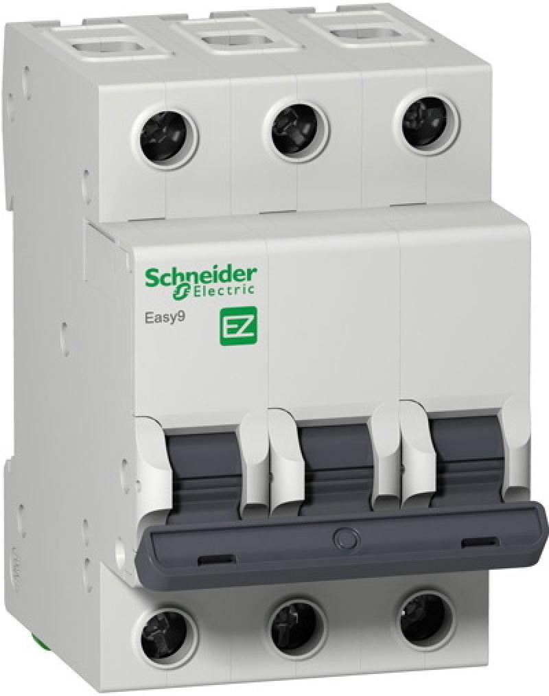 Автоматический выключатель Schneider Electric EASY 9 3П 16A C EZ9F34316 автоматический выключатель schneider electric 3п 3т 630a lv432876