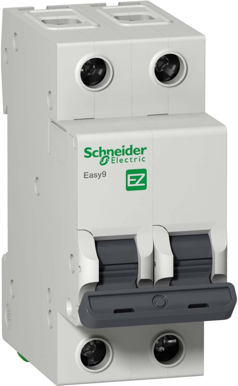 Автоматический выключатель Schneider Electric EASY 9 2П 6A C EZ9F34206 автоматический выключатель schneider electric ik60 1п 16a c a9k24116