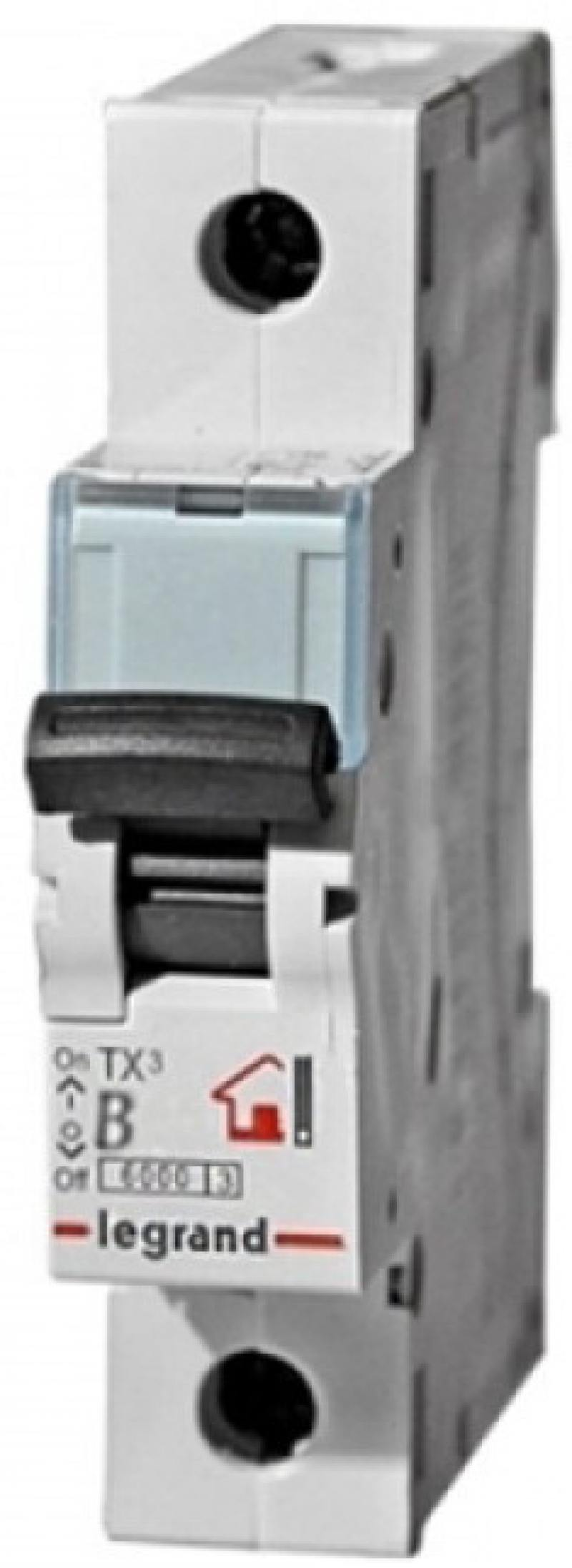 Автоматический выключатель Legrand TX3 6kA тип B 1П 25А 403974
