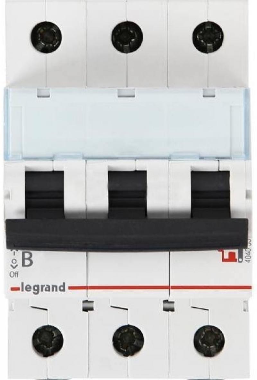 Автоматический выключатель Legrand TX3 6000 тип B 3П 25А 404002 автоматический выключатель legrand tx3 6000 тип c 3п 20а 404057
