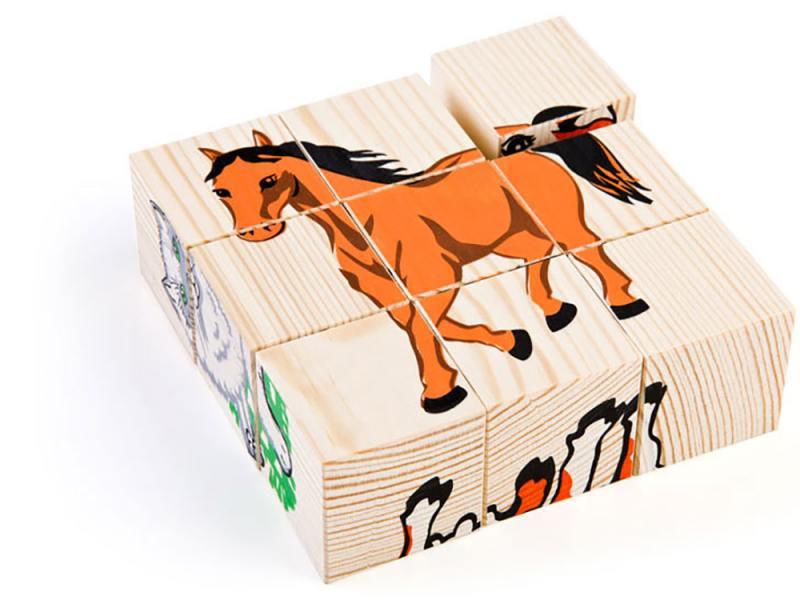 Кубики Томик Домашние животные 9 шт 4444-3