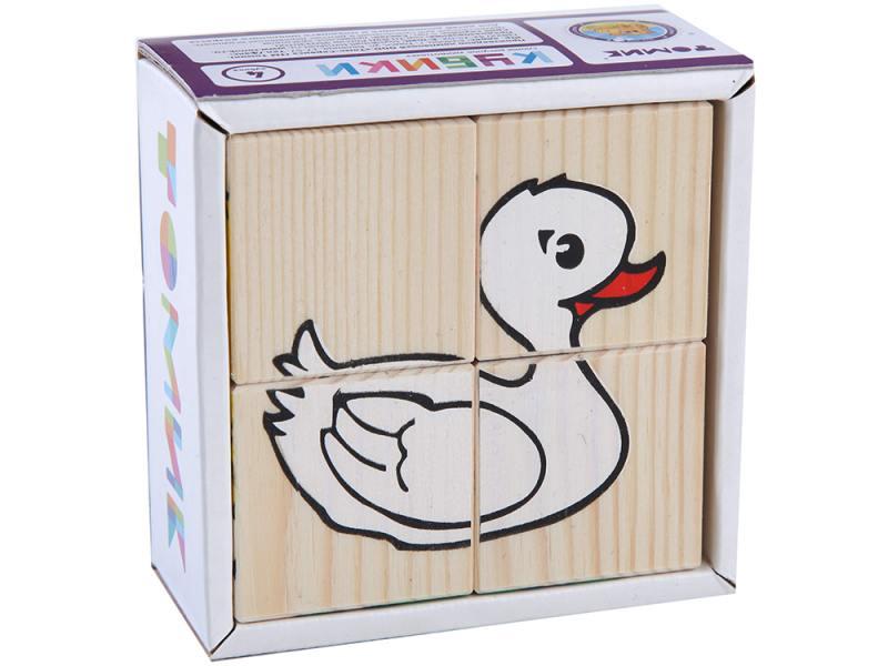 Кубики Томик Животные 4 шт 3333-1 от OLDI