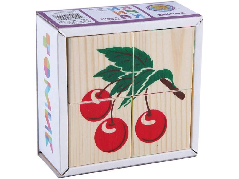 Кубики Томик Фрукты-ягоды 4 шт 3333-2