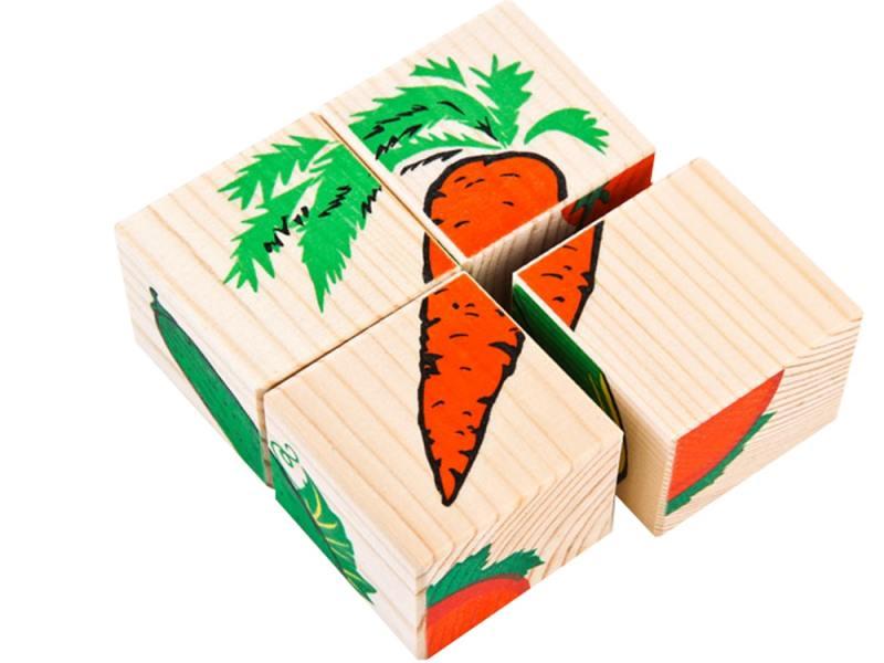 Кубики Томик Овощи 4 шт 3333-6