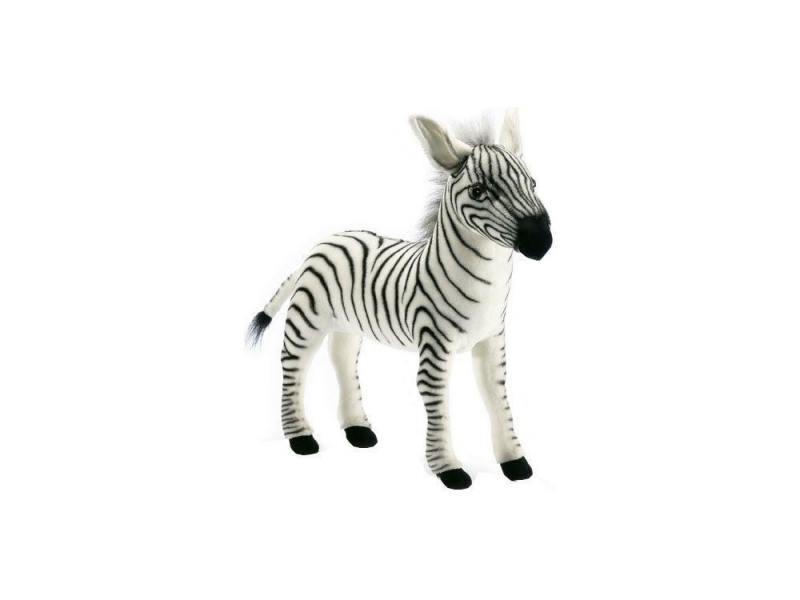 Мягкая игрушка зебра Hansa Зебра 41 см черный белый плюш синтепон 2354