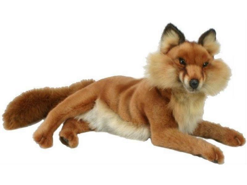 Мягкая игрушка лисица Hansa Лиса лежащая 45 см коричневый плюш игрушка hansa гусь 26cm 4945