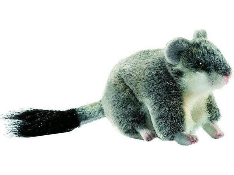 Мягкая игрушка хомячок Hansa Хомячок джунгарский 12 см серый плюш 4834 от OLDI