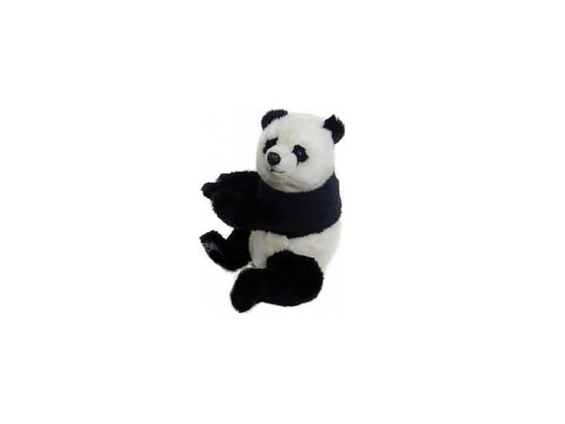 Мягкая игрушка панда Hansa Панда 25 см белый черный плюш синтепон