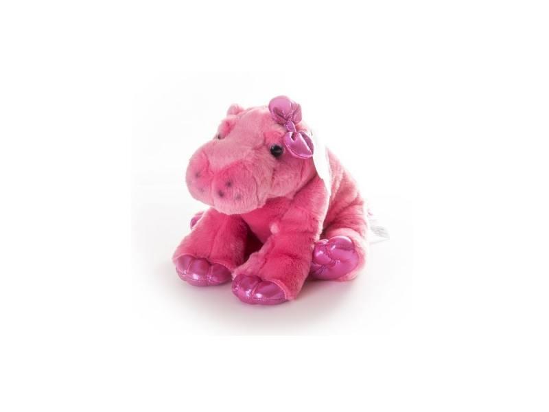 Мягкая игрушка Aurora Бегемот 30 см розовый плюш