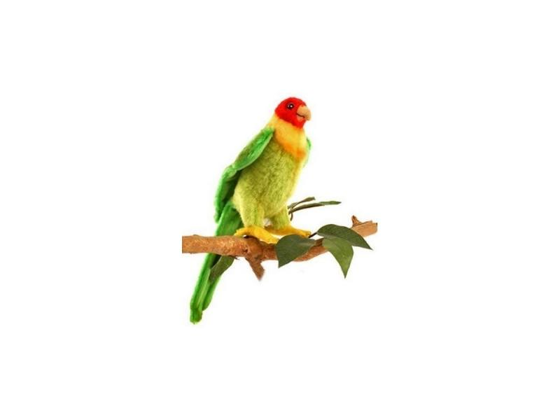 Мягкая игрушка попугай Hansa Каролинский 17 см разноцветный искусственный мех 5135 мягкая игрушка попугай hansa большой белохохлый какаду 22 см белый искусственный мех 3916
