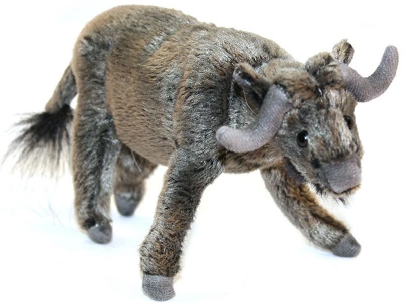 Мягкая игрушка бык Hansa 5418 16 см серый искусственный мех от OLDI