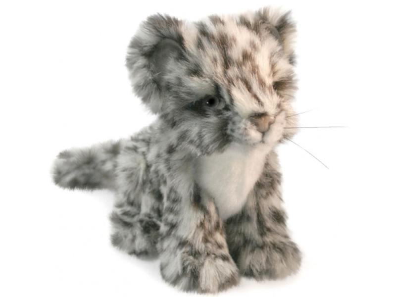 Мягкая игрушка леопард Hansa 2455 16 см серый искусственный мех
