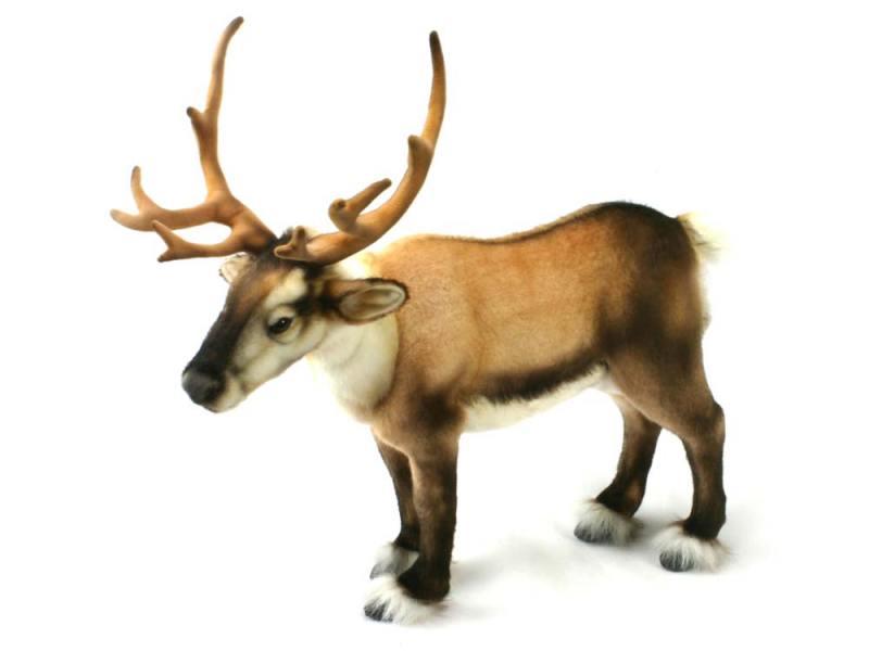 Мягкая игрушка олень Hansa Северный 50 см коричневый искусственный мех 4589 от OLDI