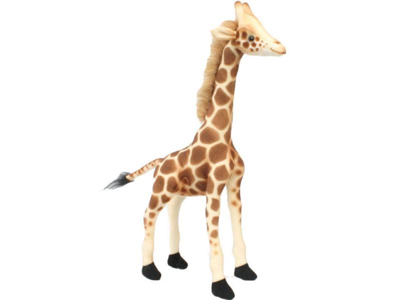 Мягкая игрушка жираф Hansa 3731 27 см бежевый искусственный мех hansa 4137 пекинес 27 см
