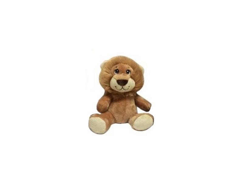 Мягкая игрушка лев Fluffy Family 681153 15 см коричневый искусственный мех