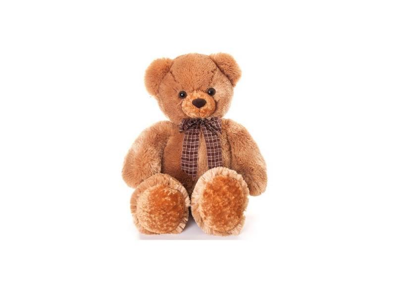 Медведь мягкий Aurora с бантом, 69 см, 30-149 aurora медведь медовый с бантом 69см 30 249
