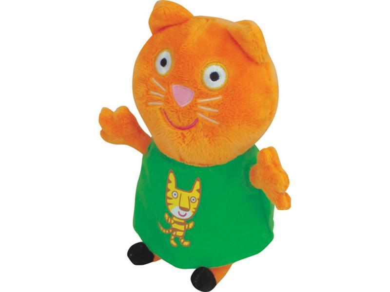 Купить Мягкая игрушка кошка Peppa Pig Кенди с тигром 20 см оранжевый текстиль 29622, Игрушки