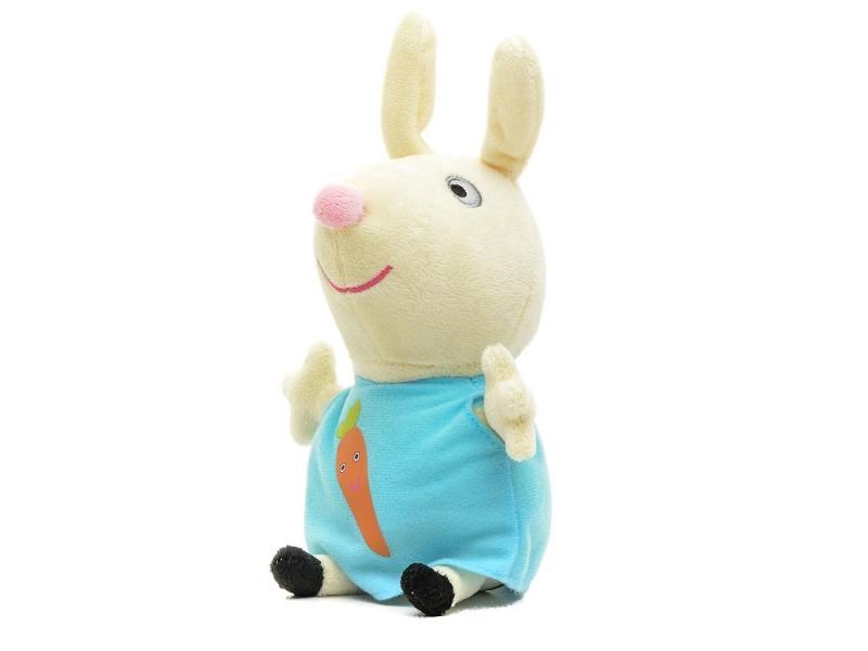 Мягкая игрушка кролик Peppa Pig Ребекка с морковкой 20 см текстиль 29624 peppa pig транспорт 01565