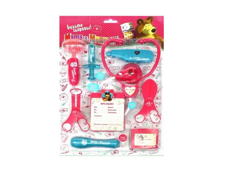 Игровой набор Маша и медведь Доктор 9 предметов 1132128 в блистере пластизоль маша и медведь маша доктор музыкальная