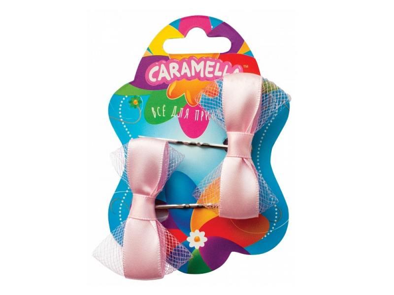 Набор украшений для волос Caramella Невидимки с бантиками 2 шт розовый 26579