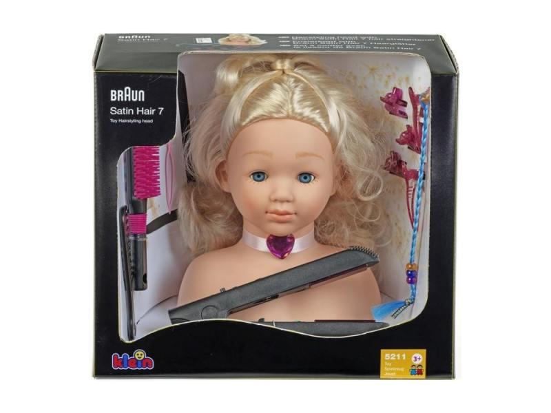 Игровой набор Klein Модель для причесок с утюжком для выпрямления волос klein модель для причесок с утюжком для волос braun