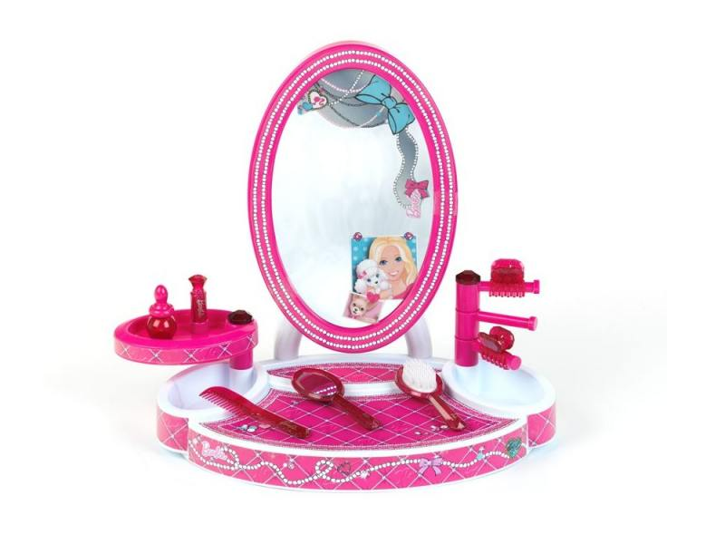 Игровой набор Klein Студия красоты настольная Barbie 8 предметов 5378 набор парикмахера klein barbie с феном 8 предметов 5793