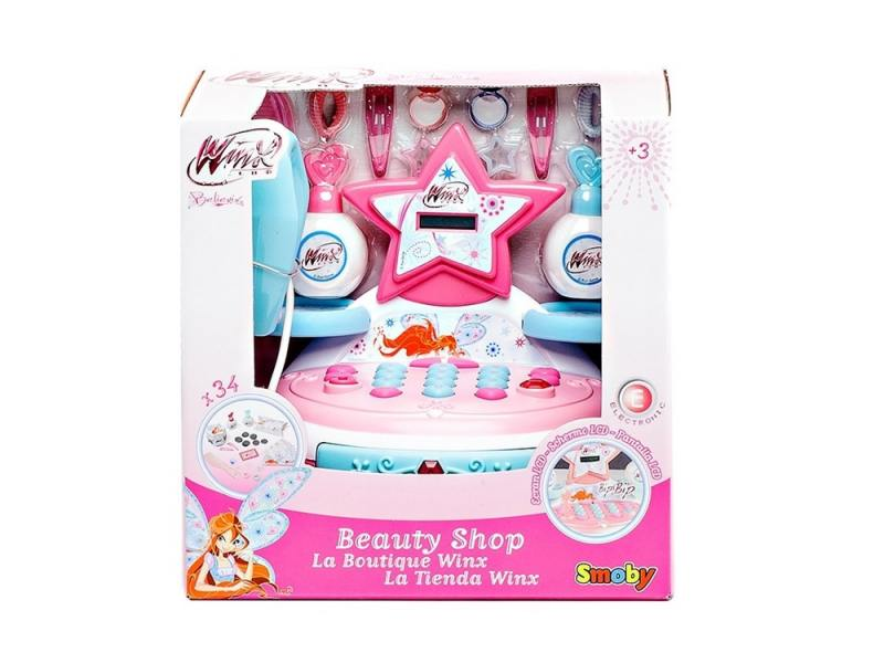 Игровой набор Smoby Мини-магазин 32 предмета 24574 игровой набор smoby 350107 электронная касса