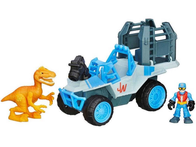 Игровой набор PLAYSKOOL HEROES Автомобиль 4x4 и фигурка раптора B0535