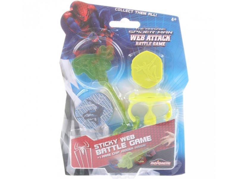 Игровой набор Majorette липкая паутина Человек-паук 1 липучка и 2 фишки (салатовый)