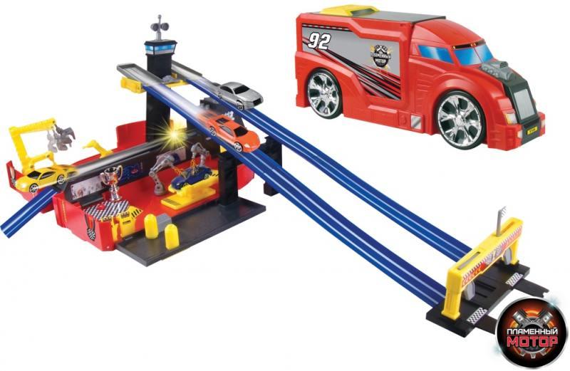 Набор-трансформер Трейлер - Авторалли Пламенный мотор 87536 пламенный мотор набор автовоз бульдозер на р у пламенный мотор