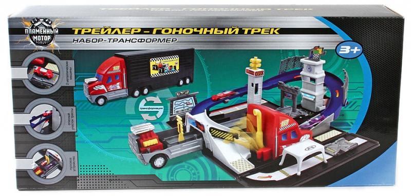 Набор-трансформер Трейлер - Гоночный трек Пламенный мотор 87535