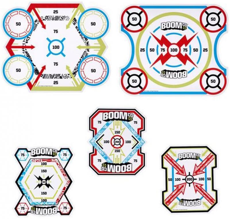 Набор мишеней Mattel Boomco, 5 шт для мальчика разноцветный Y8624 mattel система быстрой перезарядки бластеров boomco