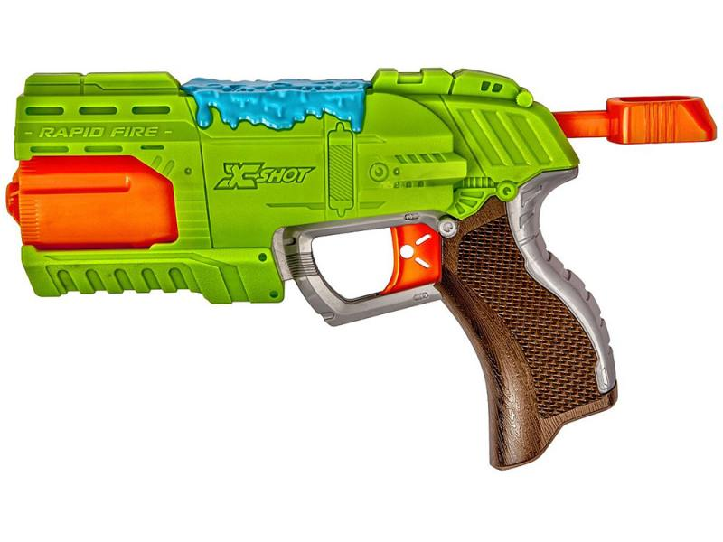 Бластер X-shot Атака Пауков (8патронов + 2 паука-мишени) для мальчика зеленый 4801