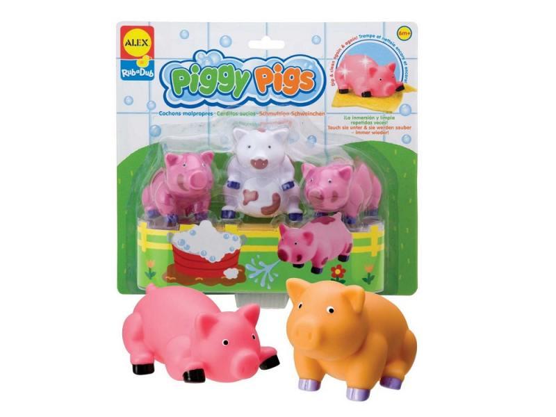 Интерактивная игрушка Alex для ванны Вымой поросенка до 1 года разноцветный 825PN игрушки для ванны alex ферма