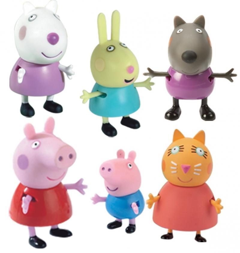 Игровой набор Peppa Pig Пеппа и друзья 6 предметов 24312 peppa pig peppa pig набор посуды пеппа повар 20 предметов