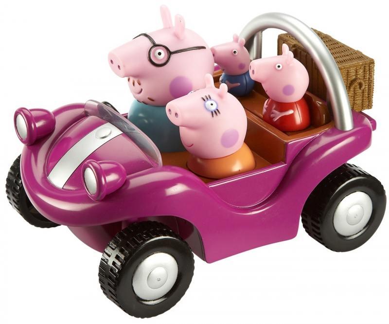 Игровой набор Peppa Pig Спортивная машина 24068 peppa pig игровой набор спортивная машина 24068 4 фигурки